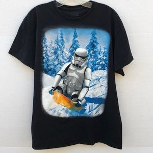 💜Star Wars stormtrooper snowboarding graphic tee